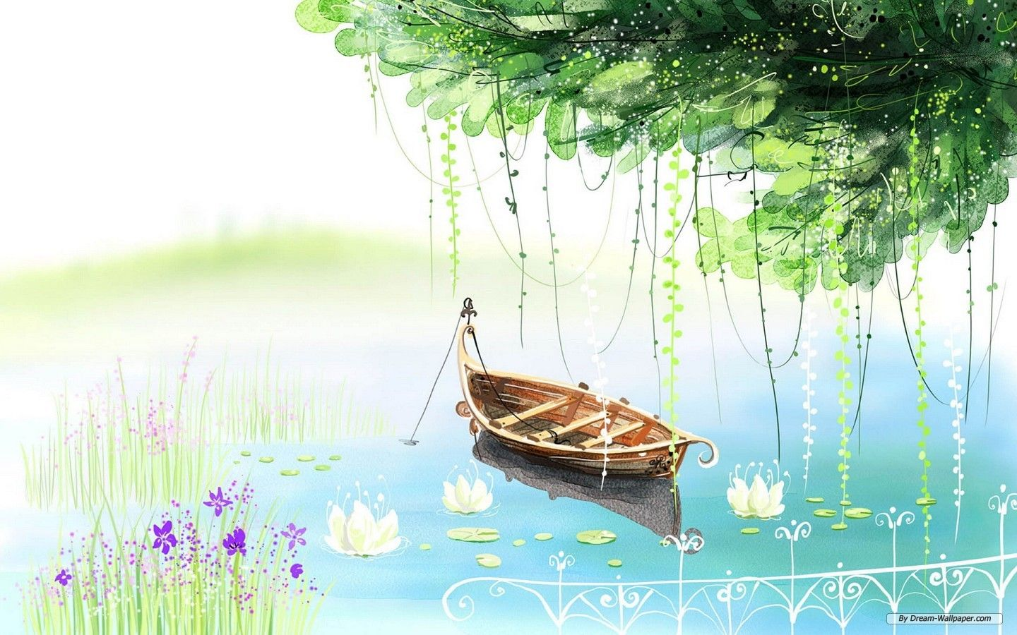 Free Art Wallpaper Drawing Beautiful Scenery Computer 7 Wallpaper 1440x900 Wallpaper Index 3 Art Art Wallpaper Painting