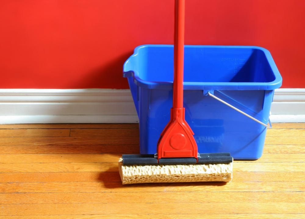 A Slightly Damp Microfiber Mop Is The Best Way To Clean