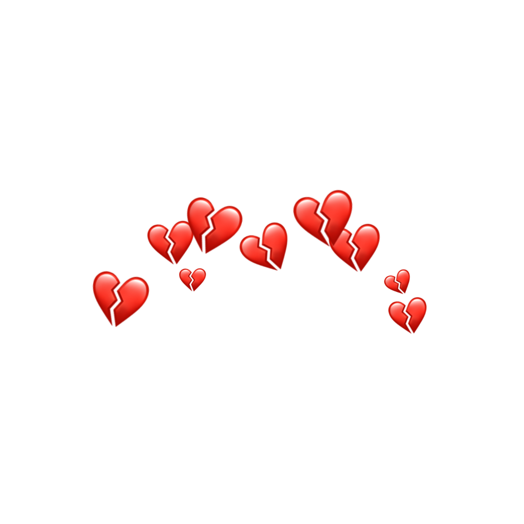 Broken Hearts Crown Red Emojis Accessories Broken Heart Wallpaper Broken Heart Emoji Heart Wallpaper