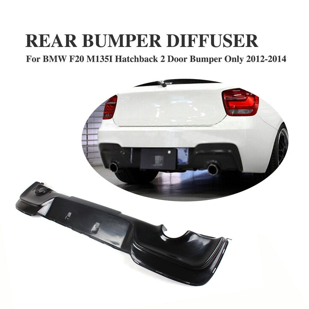 Frp Black Rear Diffuser Bumper Lip Fit For Bmw 1series F20 M135i