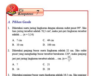 Uji Kompetensi 7 Lingkaran Dan Garis Singgung Lingkaran Kelas 8 Halaman 113 120 Matematika Kelas 8 Garis Kurikulum