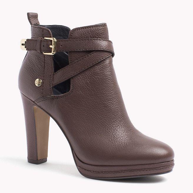 Tommy Hilfiger Lucy Ankle Boots Deep Taupe Grau Tommy Hilfiger Stiefel Stiefeletten Hauptbild Hilfiger Stiefel Stiefeletten Stiefel