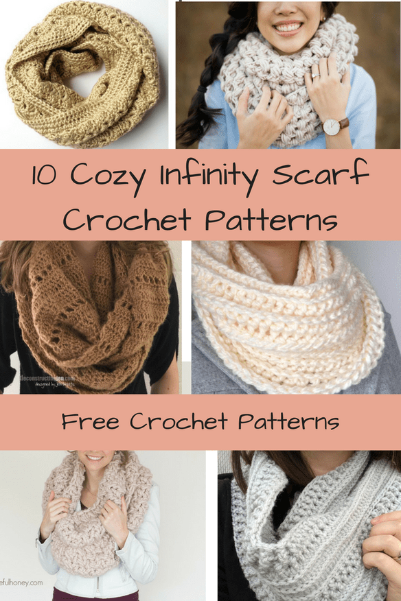 10 Free & Cozy Infinity Scarf Crochet Patterns | Manualidades ...