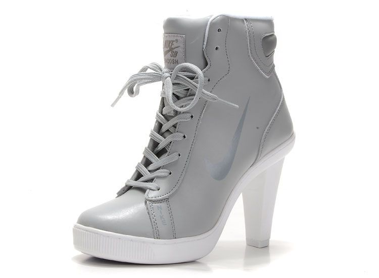 Nike Dunk Hi Top Block Heels For Womens Grey Dunk SB heels