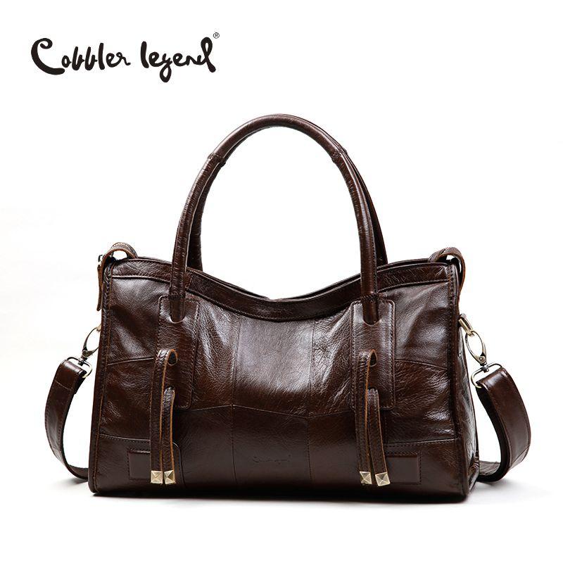 b7a8b73197 Cobbler legend originale del cuoio genuino sacchetti di spalla delle donne  2017 nuova tendenza per il tempo libero borsa delle signore crossbody bag  per le ...