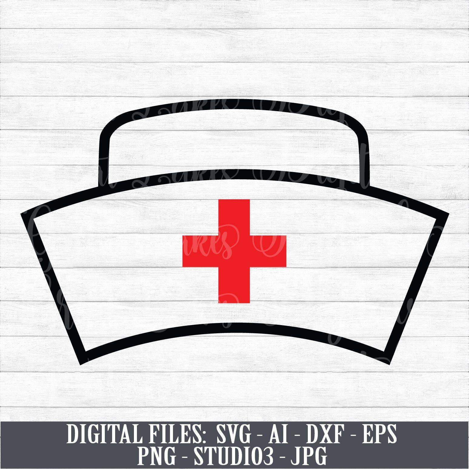 Nurse Hat Nursing Medical Instant Digital Download Svg Etsy Nurse Hat Nurse Calligraphy Art Print