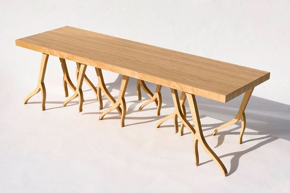 Modern Wood Bench  'ROOTSY' series contemporary by StudioLiscious, $1575.00