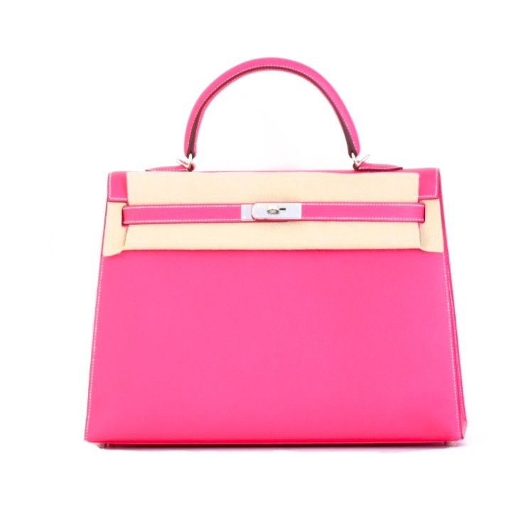 HERMES KELLY BAG 35CM ROSE TYRIEN EPSOM Leather Gold Hardware (New and  Authentic) f932c823e1d67
