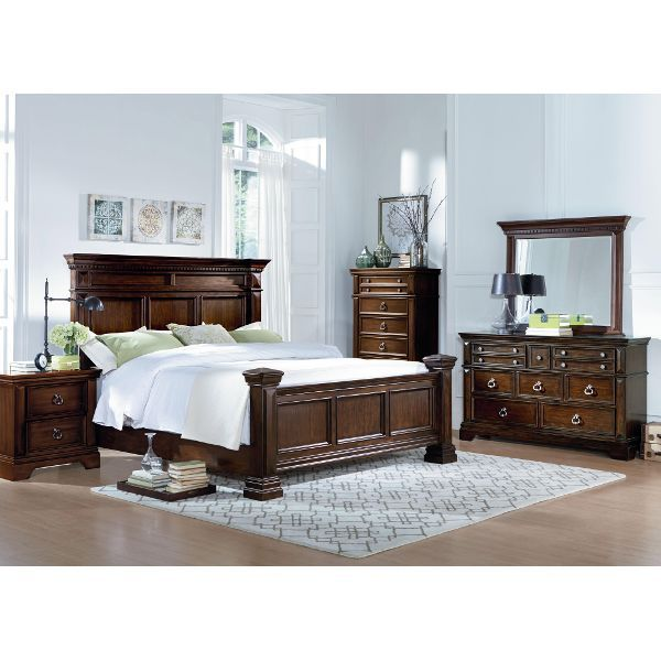 Charleston Tobacco Brown 6Piece King Bedroom Set  For The Home Pleasing Fancy Bedroom Sets Design Decoration