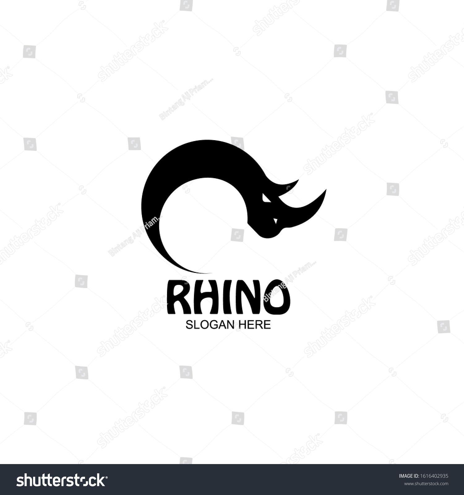 Rhino Logo Template Animal Mascot Logotype Template Vector Illustration Ad Ad Template Animal Rhino Logo Rhino Logo Logo Templates Logo Design