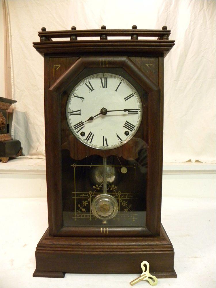 Antique American Seth Thomas Omaha Model City Series Fine Parlor Clock Running Clock Antique Clocks Antiques
