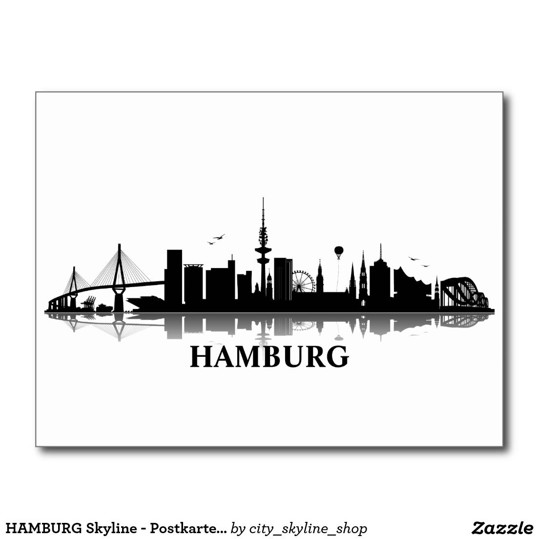 HAMBURG Skyline - Postkarte / Grußkarte in 2019 | Too ...