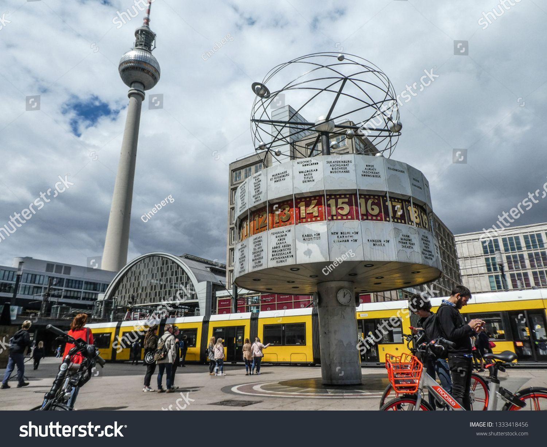 Berlin Germany June 22 2018 World Time Clock In Alexanderplatz The Weltzeituhr Worldtime Clock At Alexanderplatz In Berlin Ad Aff Weltzeituhr Berlin