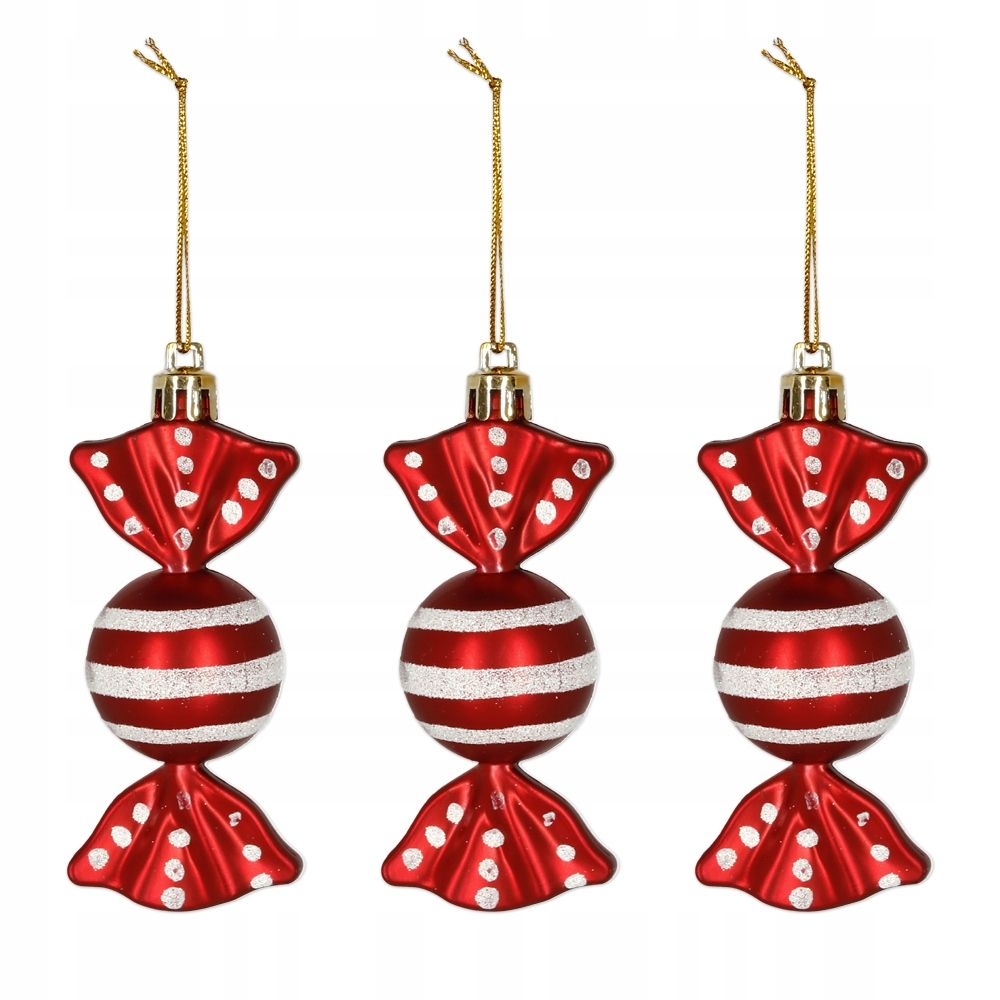Kup Teraz Na Allegro Pl Za 6 99 Zl Ozdoby Choinkowe Kpl 3 Szt Dekoracje Cukierki 9 Cm 8560093536 Alleg Holiday Decor Christmas Ornaments Novelty Christmas