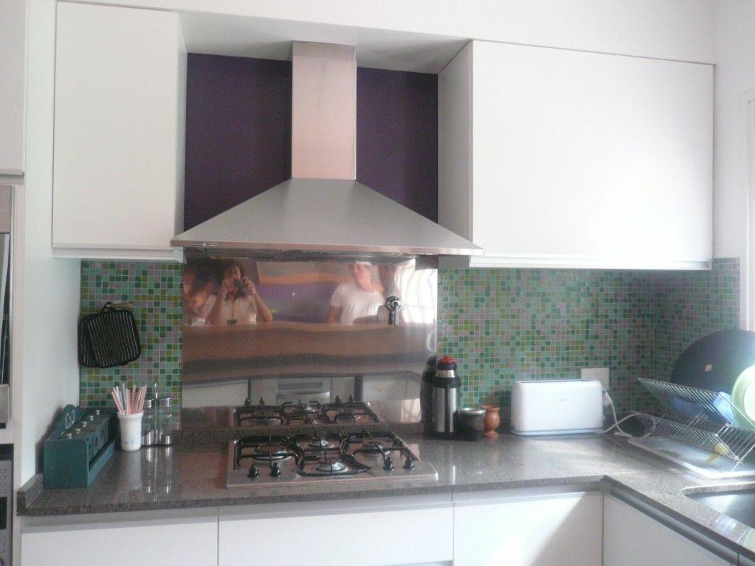 Blanco Y Venecita Verde Cocina Carolina Pinterest Verde  # Muebles De Cocina Faplac