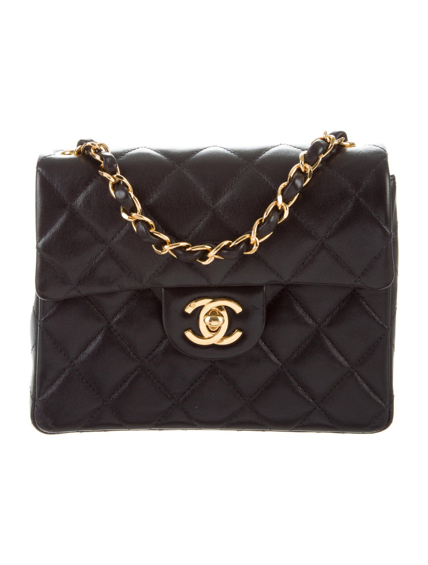 520074d93b9e Chanel Vintage Classic Mini Square Flap Bag - Handbags - CHA290622 | The  RealReal