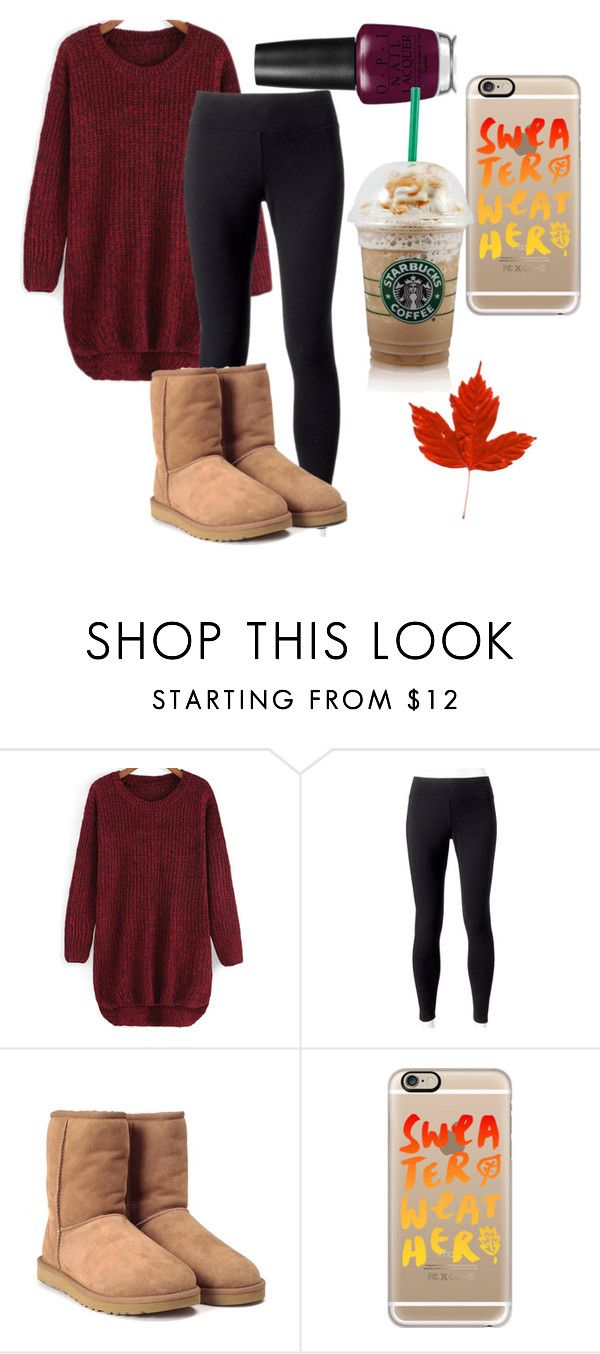 """""""fall🍃🍂🍂🍁"""" by dope-styles ❤ liked on Polyvore featuring Jockey, UGG and Casetify"""