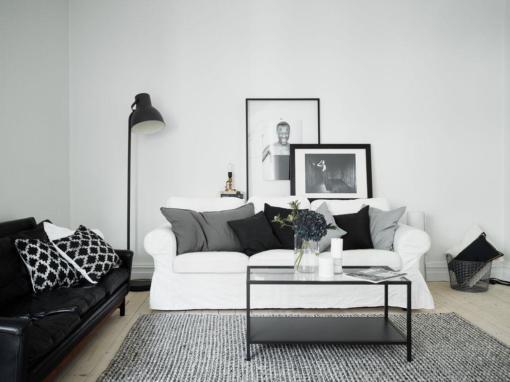 Home with grey accents via hell for Soggiorno minimalista