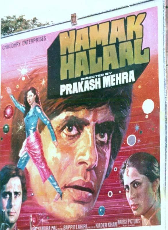 Namak Halal 1982 This Movie Staring Amitabh Bachchan Shashi Kapoor Smita Patil And Parveen Babi Was Directed Bollywood Posters Vintage Bollywood B Movie