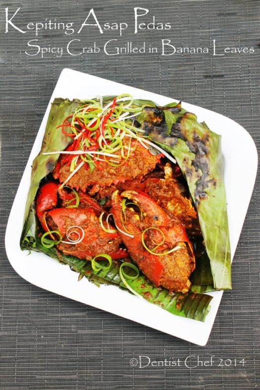 Resep Kepiting Asap Pedas Grilled Spicy Crab Wrapped In Banana Leaves With Chili Shrimp Paste Resep Kepiting Resep Lobster Kepiting