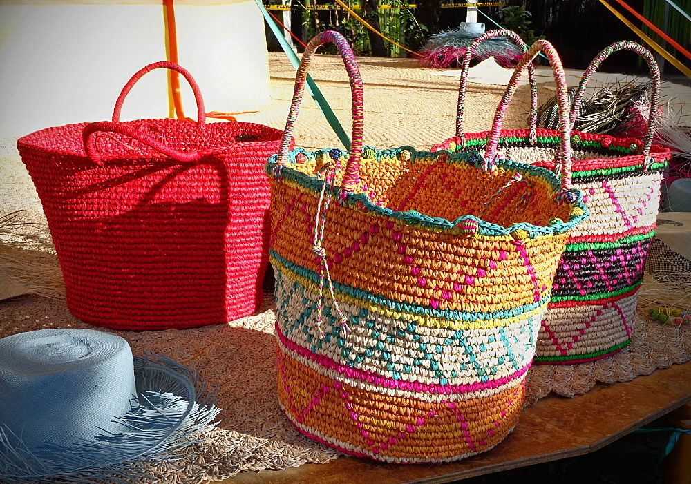 Beautiful Hand Woven Colorful Baskets Colorful Baskets Hand