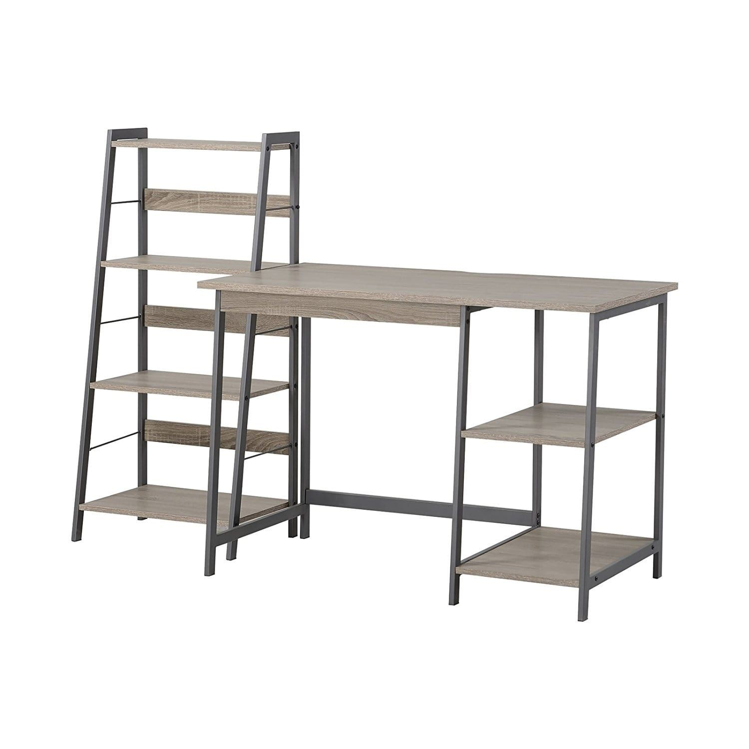 Homestar gemelli writing desk and shelves bookcase duo in