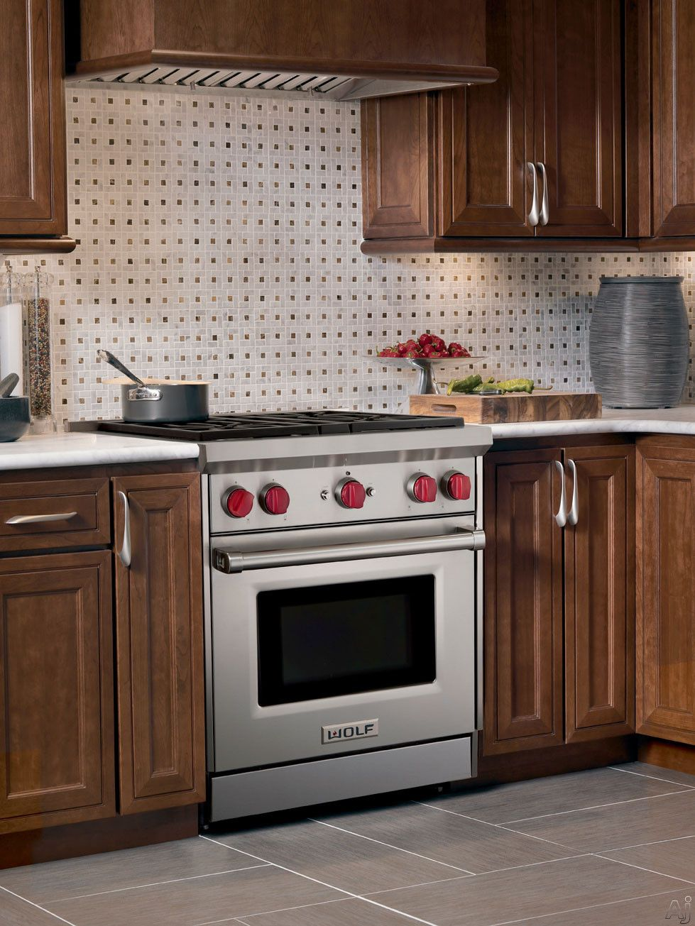 """Wolf GR304X 30"""" ProStyle Gas Range with 4 DualStacked"""