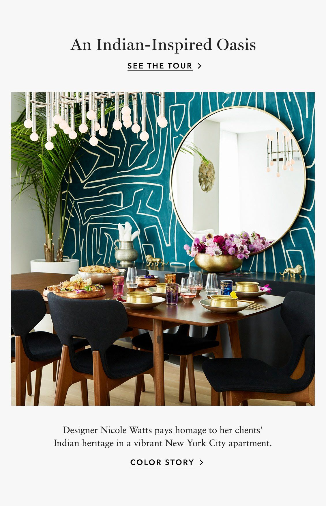 An Indian-Inspired Oasis: Designer Nicole Watts pays ...