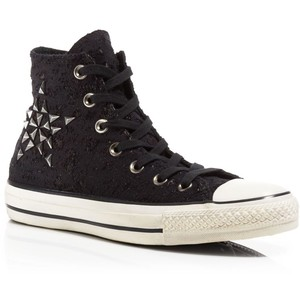 Converse Lace Up Sneakers - Lurex Star Studded High Top