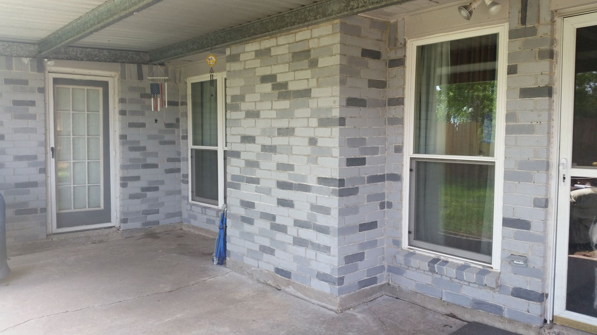Brick cleaning brick staining brick improvement ideas - Staining brick exterior pictures ...