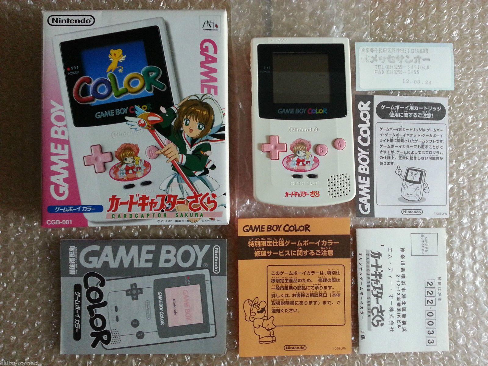 Game boy color japan - Console Nintendo Gameboy Color Cardcaptor Sakura Limited Edition Import Japan