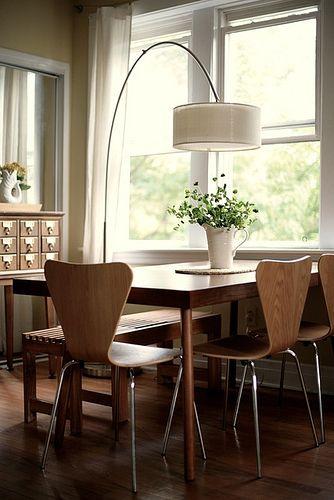 Nice Dining Dining Room Floor Arc Lamp Dining Table