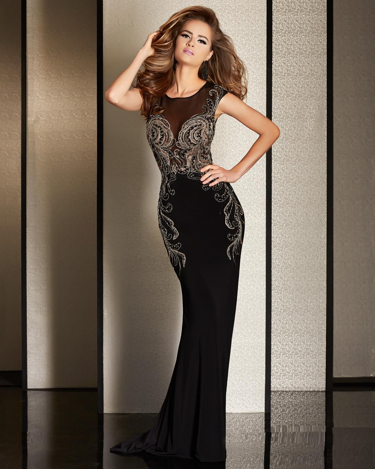 Mother of the Bride gown by Clarisse. Style: M6244. Color: Black ...