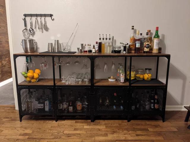 Homebar Made With Two Ikea Fjallbo Cabinets Bars For Home Ikea Hack Ikea