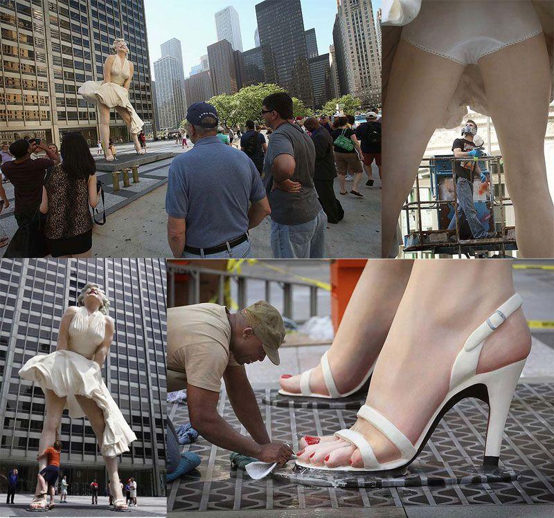 В Чикаго появился огромный памятник Мэрилин Монро   Sport ...