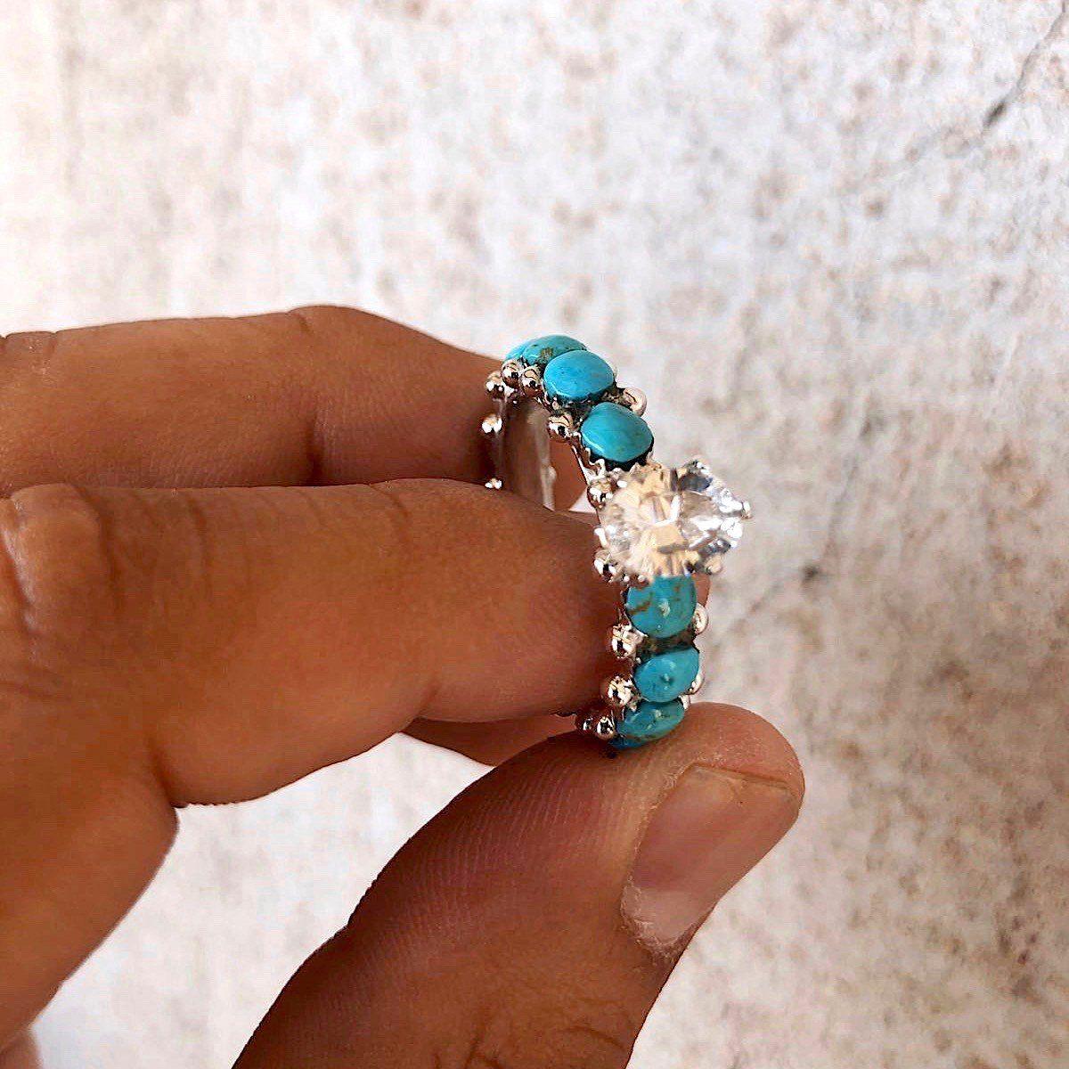 Infinity ring turquoise rings wedding rings eternity