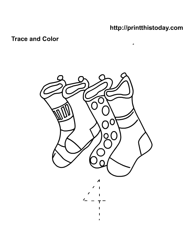 4 stockings Christmas math | Free Printable Worksheets and coloring ...