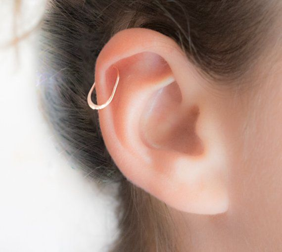 Rose Gold Helix Earring Piercing Hoop Jewelry Ri