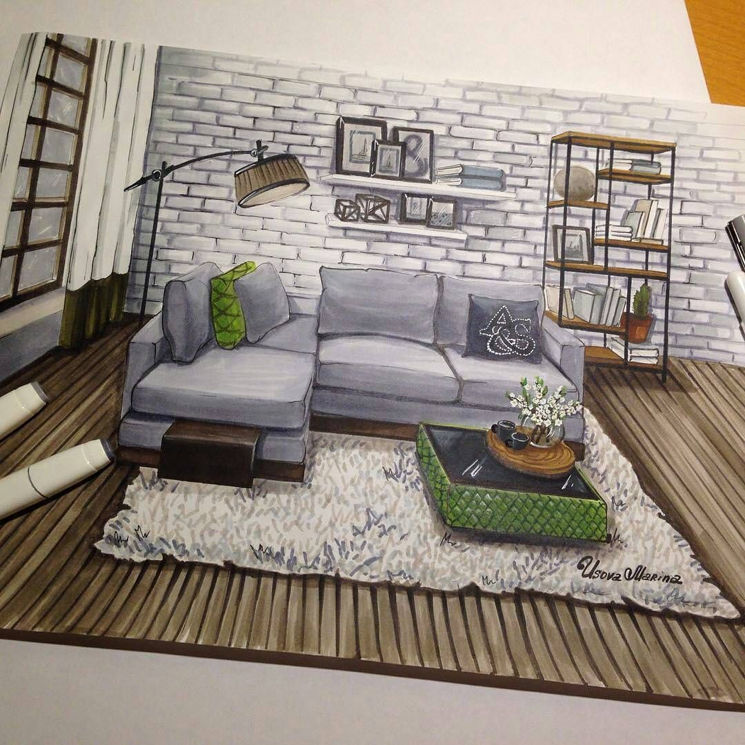 See This Instagram Photo By Interior Sketch 213 Likes