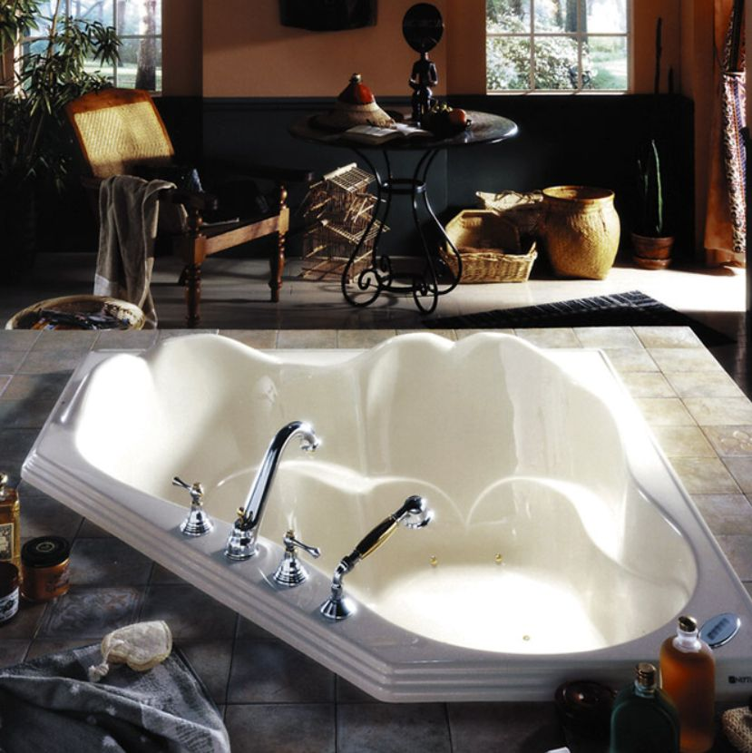 Gorgeous luxury corner bathtub by Produits Neptune / Orphee ...