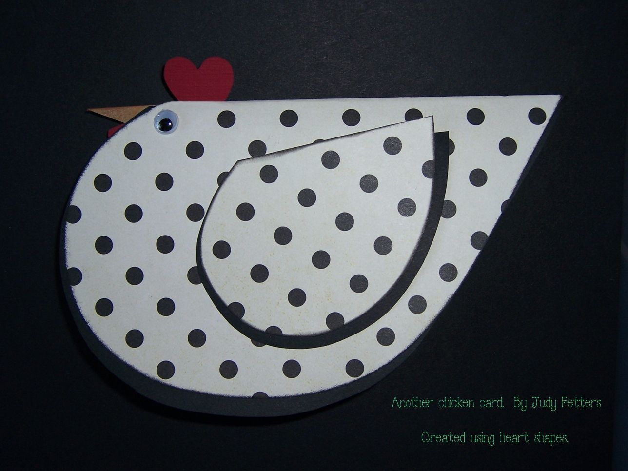 My version of the chicken card I saw on Pinterest.