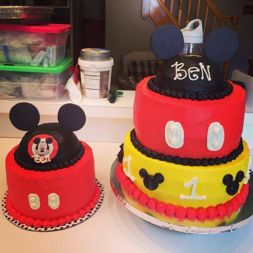 Mickey Mouse Smash Cakes Buttercream: Mickey Mouse Cakes - Buttercream