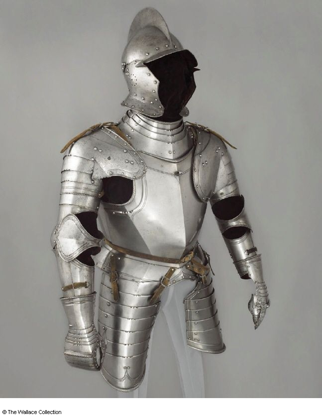 Title: armour Tags: Armour, Helmet Date: ca. 1540-1550 Artist: Unknown Provenance: Germany Collection: The Wallace Collection