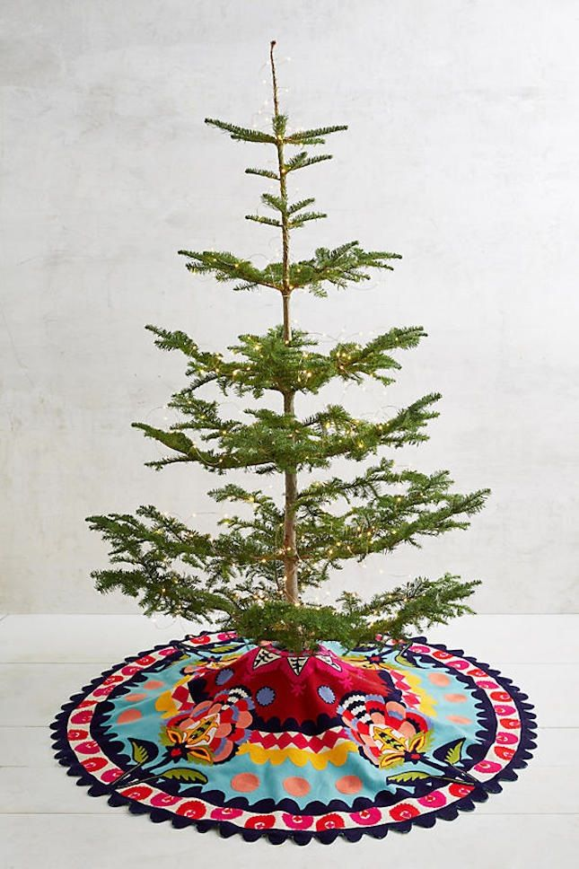 This Christmas Tree Skirt Is So Fun As A Non Traditional Holiday Home Decor Option Boho Christmas Decor Christmas Tree Skirt Christmas Tree Toppers