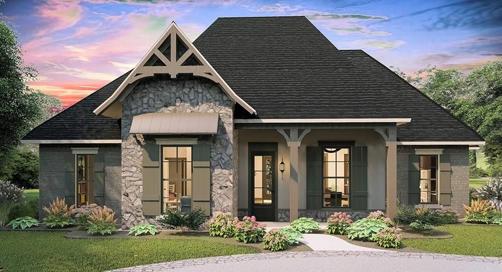 House Plan 1798 Larry James Designs Reversed Country Style House Plans Cottage Style House Plans French Country Style