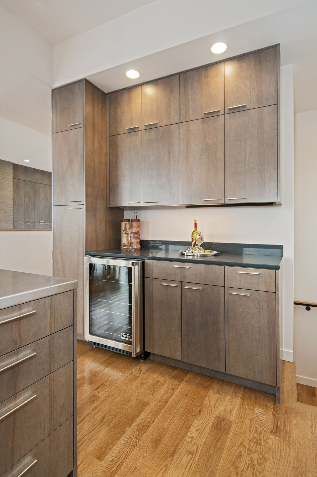 Kitchen, Full Overlay, Birch stained custom gray ...