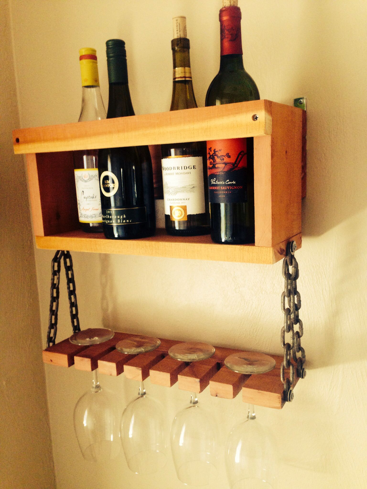 Hand Made Wine Rack My Brucie Is The Best