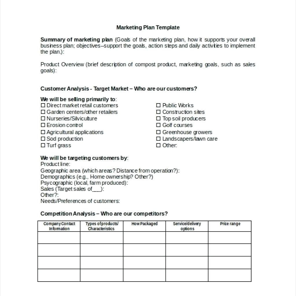 The Appealing Construction Company Marketing Plan Pdf Template