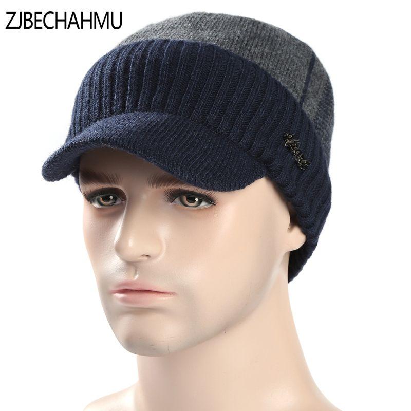 Winter Hats Skullies Beanies Hat Winter Beanies For Men Women Wool  Fashoinable Caps Balaclava Mask Gorras 8c1aef1c1a2b