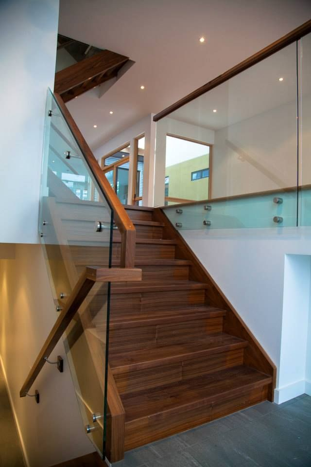 Best Walnut Stair With Glass Railings By Accurate Stairs And 400 x 300